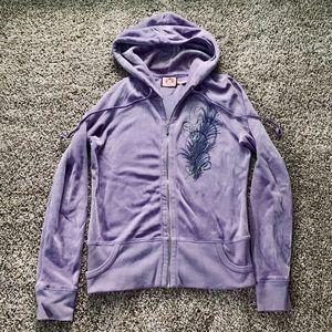 EUC SIZE L Juicy Couture Purple Zip Up Hoodie